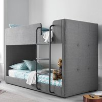 Saturn Grey Fabric Bunk Bed - 3ft Single