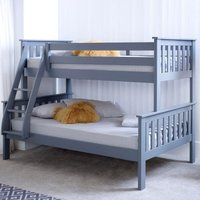 Atlantis Grey Wooden Triple Sleeper Bed Frame - 3ft Single Top and 4ft Small Double Bottom