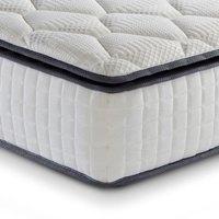 Sleep Soul Bliss 800 Pocket Spring and Memory Foam Pillowtop Mattress - 4ft6 Double (135 x 190 cm)