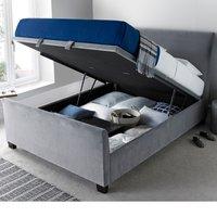 Allendale Plume Velvet Ottoman Fabric Bed Frame - 6ft Super King Size