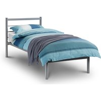 Alpen Silver Finish Metal Bed Frame - 4ft Small Double