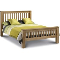Wooden Bed Frame 5ft King Size Amsterdam High Foot End Solid Oak