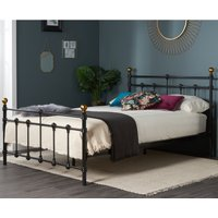 Atlas Black Metal Bed Frame - 4ft Small Double