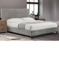 Shoreditch Grey Velvet Fabric Bed Frame - 4ft6 Double