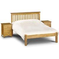 Barcelona Low Foot End Antique Solid Pine Wooden Bed Frame - 5ft King Size