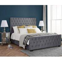 Marquis Grey Velvet Fabric Bed Frame - 5ft King Size
