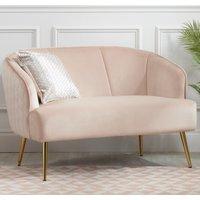 Bella Pink Fabric 2 Seater Sofa