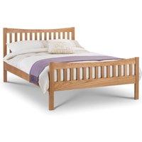 Wooden Bed Frame 4ft6 Double Bergamo Solid Oak