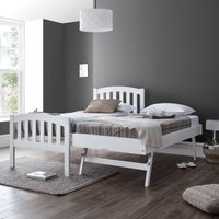 Blake White Wooden Guest Bed and Trundle Frame - 3ft Single