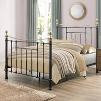 Bronte Black Metal Bed Frame - 4ft6 Double