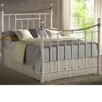 Bronte Cream Metal Bed Frame - 4ft6 Double