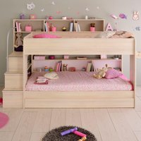 Bibop Acacia Wooden Bunk Bed with Underbed Storage Drawer Frame Only - EU Single