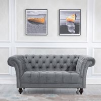 Chester Grey Fabric 2 Seater Sofa