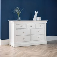 Clermont White Wooden 4+3 Drawer Chest