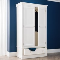 Clermont White Wooden Combination Wardrobe