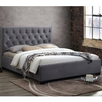 Cologne Grey Fabric Bed - 4ft6 Double
