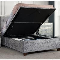 Cologne Steel Fabric Ottoman Storage Bed - 5ft King Size