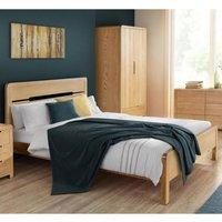 Curve Oak Wooden Bed Frame - 5ft King Size