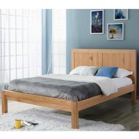 Bellevue Oak Wooden Bed Frame Only - 4ft6 Double
