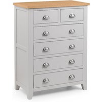 Richmond Grey and Oak 4+2 Drawer Wooden Chest