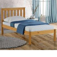Solid Pine Wooden Bed Frame 3ft Single Denver Antique