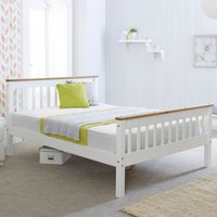 Wooden Bed Frame 3ft Single Devon White