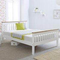 Wooden Bed Frame 4ft6 Double Devon White