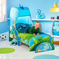 Dinosaurs Toddler Bed with Canopy and Storage Drawer