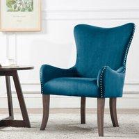 Ellis Blue Fabric Armchair