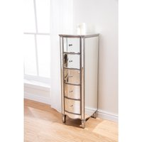 Elysee Mirrored 5 Drawer Narrow Chest