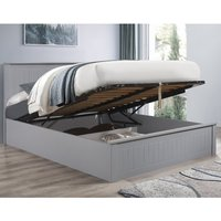 Fairmont Grey Wooden Ottoman Storage Bed Frame - 5ft King Size