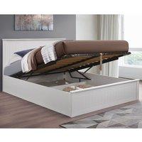 Fairmont White Wooden Ottoman Storage Bed Frame - 4ft6 Double