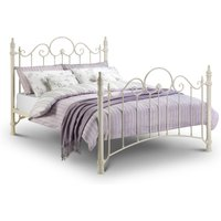 Florence Stone White Metal Bed Frame - 5ft King Size