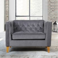 Florence Grey Snuggle Chair