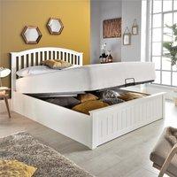 Grayson White Wooden Ottoman Storage Bed Frame - 4ft6 Double