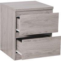 Jupiter Grey Oak 2 Drawer Bedside Table