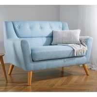 Lambeth 2 Seater Duck Egg Blue Fabric Sofa
