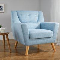 Lambeth Duck Egg Blue Fabric Chair