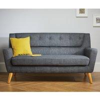 Lambeth 3 Seater Grey Fabric Sofa