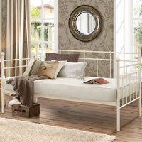 Lyon Cream Metal Guest Day Bed Frame - 3ft Single