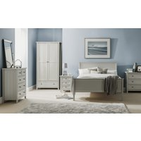 Maine Dove Grey 5 Drawer Wooden Tall Chest