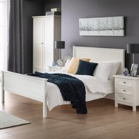 Maine White Wooden Bed Frame - 4ft6 Double