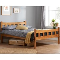 Solid Pine Wooden Bed Frame 3ft Single Miami Antique