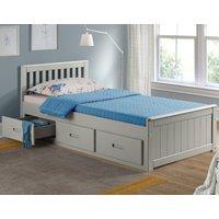 Mission Grey Wooden Storage Bed Frame - 3ft Single