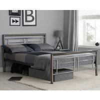 Montana Chrome and Nickel Metal Bed Frame - 5ft King Size