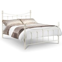 Rebecca Stone White Metal Bed Frame - 4ft6 Double