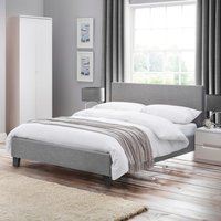 Rialto Light Grey Fabric Bed Frame - 5ft King Size