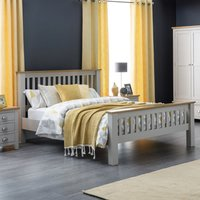 Richmond Grey and Oak Wooden Bed Frame - 4ft6 Double