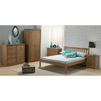 Wooden Bed Frame 3ft Single Porto Waxed Rustic Pine Finish