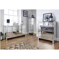 Seville Mirrored 6 Drawer Wide Chest